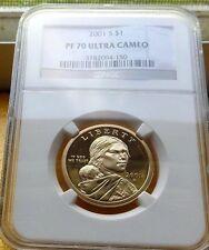 2001-S NGC PR70 ULTRA CAMEO SACAGAWEA GOLDEN DOLLAR $1