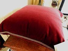 Sferra VELINO Decorative Pillow Corded Edge Velvet BURGUNDY Made in ITALY - NEW!