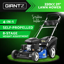 "Giantz Lawn Mower Self Propelled 4 Stroke 21"" 220cc Petrol Mower Grass Catch"