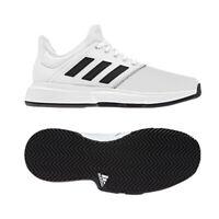 adidas Game Court Wide Men's Tennis Shoes White Black Racket Racquet NWT CG6336