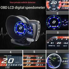 Car OBD2 Gauge Code Reader Trip Computer Speed Voltage Meter Fuel Water 6 Kinds