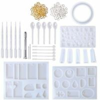 Handmade Crystal Glue Mold Set DIY Crystal Glue Jewelry Mold 127 Pcs Set