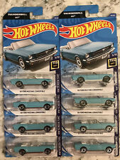 2020 Hot Wheels #59 HW Screen Time 5/10 '65 FORD MUSTANG CONVERTIBLE - 8 In Lot!