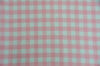 """Poly poplin checkers pink 100% Polyester picnic fabric 60""""wide sold by yard"""