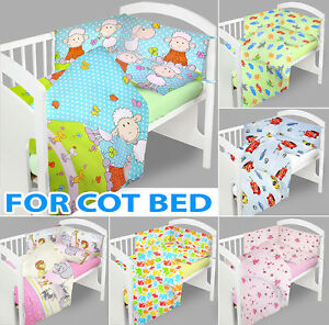 BABY BEDDING SET 135x100 COT BED QUILT DUVET PILLOW CASE COVER NURSERY NEWDESIGN