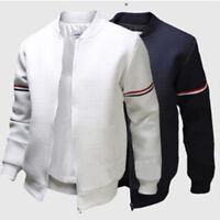 Chic Men Baseball Outwear Coat Bike Motorcycle Padded Bomber Jacket Spring New