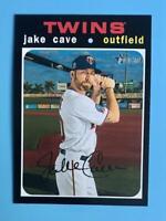 2020 Topps Heritage High Number Jake Cave Short Print Minnesota Twins #710