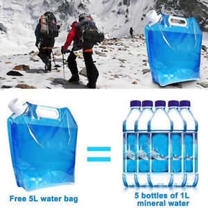 2x Outdoor Water Bags Foldable Drinking Camp Cooking Picnic BBQ Water Container*