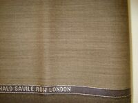 "4.44 yd LOWE DONALD WOOL Super 130s FABRIC Luxury 8 oz Suiting Bistre 160"" BTP"