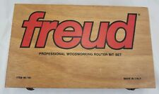 "Freud Router Bit Set & Case 1/4"" Shank 12 Bits 90-100 Made In Italy"
