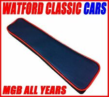 Complete Vinyl Centre Console Armrest Black with Red piping for MGB All Years