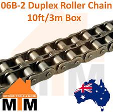 "INDUSTRIAL ROLLER CHAIN 06B-2 - 3/8"" PITCH Duplex 10Ft 3m Box 06B"