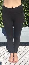 Lululemon Size 4 Train Times 7/8 Pant Black BLK Luxtreme Mesh Tight Leggings