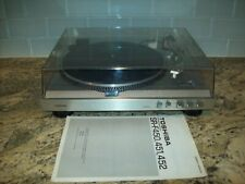 Toshiba SR-F450 Turntable with Dust Cover Manual Very Nice Works