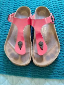 BIRKENSTOCK Red Sandals Flats Size 39 Made in Germany B28