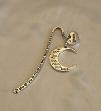 Dad/Daddy/GrandadFather's Day 'I love you to the moon and back' Charm Bookmark