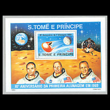 St Thomas & Prince, Sc #582, MNH, 1980, S/S, Space, Moon Landing, SP018F