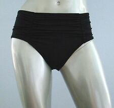 Nwt Victorias Secret Swim Black Retro Ruched Back High Waist Bikini Bottom XS