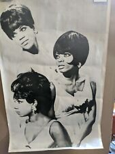 Rare Diana Ross And The Supremes Poster 1960s