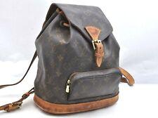 Authentic Louis Vuitton Monogram Montsouris MM Backpack M51136 LV A2028