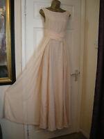 6 ASOS NUDE MAXI DRESS FLOATY CHIFFON  20'S 30'S VINTAGE SUMMER WEDDING