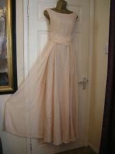 10 ASOS NUDE MAXI DRESS FLOATY CHIFFON  20'S 30'S WEDDING VINTAGE SUMMER WEDDIN