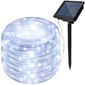Solar String Lights 78.7FT 200LED Waterproof Rope Lights high capacity battery