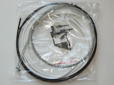 Complete Bicycle Brake Cable Housing Kit Set White Lubricated Slick Universal