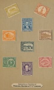 GUATEMALA STAMPS 1921 RARE PERKINS & BACON PROOFS U.P.U. TO 15p IN BOOKLET