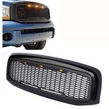 For 06-08 Dodge Ram 1500 Raptor Style Black Front Hood Grille Conversion W/LED