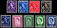 GB 1958-70 Nordirland Pre-Dezimal Endgültigen Basic Set of 9 Nicht gefaßt