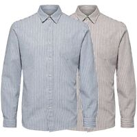 Selected Herren Regular Fit Langarm Hemd Shirt - Gestreift - shhcollect - M, L