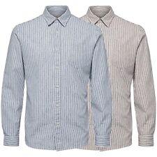 Selected Herren Regular Fit Langarm Hemd Shirt - Gestreift - shhcollect - M, L