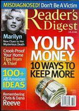 2006 Reader's Digest Magazine: 10 Ways to Keep Your Money/Marilyn Monroe/Thief