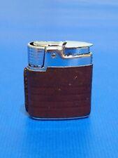 More details for vintage leather ronson varaflame cigarette lighter wind shield butane gas g.w.o