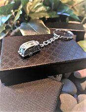 Handmade Silver Caravan Holiday Key Ring / Handbag Charm. Gift Boxed.