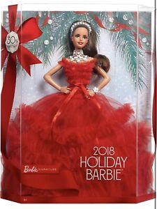 Barbie Signature 2018 Holiday Barbie Brand New Uk Seller FRN71 🇬🇧