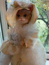 Vintage 11� Cat Doll - Elegantly dressed Cat