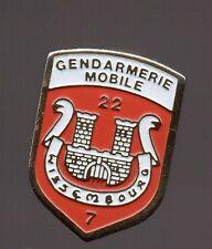 Pin's Police / EGM Escadron de Gendarmerie Mobile 22/7 (Wissembourg)