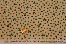 """""""COOKIE CUTTER CHRISTMAS"""" 100% COTTON QUILT FABRIC BY THE YARD FOR WILMINGTON"""
