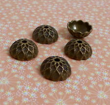 30 pcs Antique Bronze Acorn Bead Cap 15 mm bead caps
