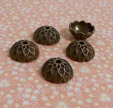 30 pcs Antique Bronze Acorn Bead Cap 15 mm
