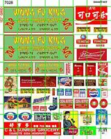 7028 DAVE'S DECALS BUSINESS SETS WONG FU KING CHINESE BUFFET W/ ADVERT SIGNAGE