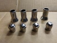 CHROME SILVER Wheel Tyre Valve Caps Stem Covers 20mm Alloy with dust caps X4