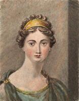 EMMA ELEONORA KENDRICK Miniature Painting PORTRAIT OF A LADY - 19TH CENTURY