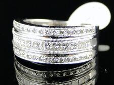 14K Mens Ladies Princess Cut Diamond Wedding Band Ring