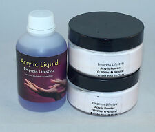 200ml Acrylic Liquid + 50g White French + 50g Pink/Clear Natural Acrylic Powder