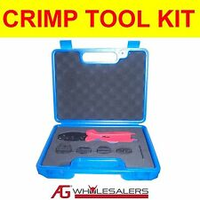 CRIMP TOOL SET KIT FOR TERMINALS, BOOT LACE, WIRE END FERRULE, ANDERSON PLUG 50A