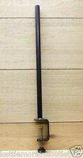 Erva Deck Railing Mount Pole Clamp Mount Bird Feeders or Plants Steel Pole