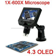1X to 600X continuous zoomi oled LCD Digital Microscope Video Camera Mikroskop